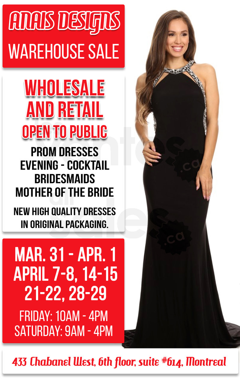 Prom dresses & gowns liquidation sale | allsales.ca