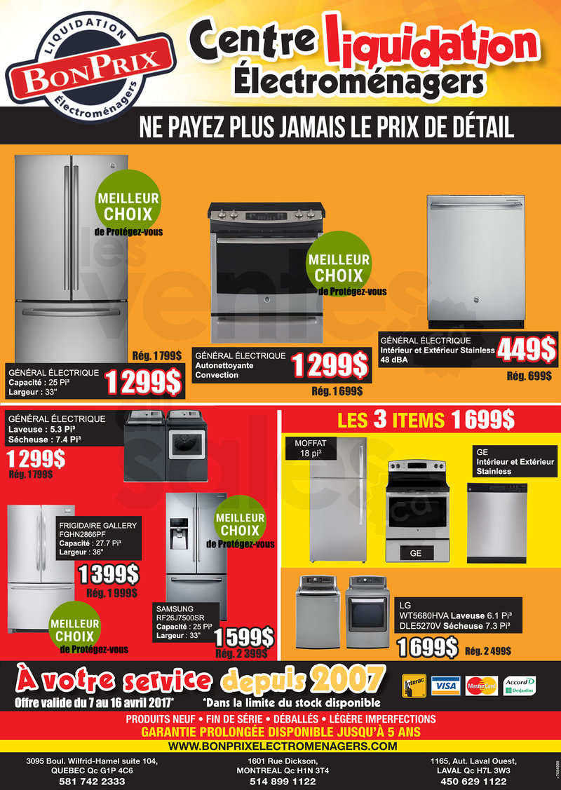 appliances liquidation sale. Black Bedroom Furniture Sets. Home Design Ideas