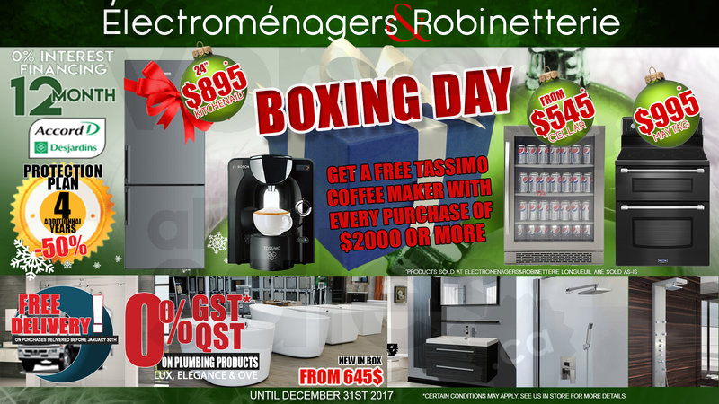 Holiday deals on appliances plumbing for Centre liquidation meuble longueuil
