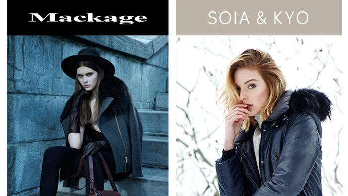 Ontario: Mackage, Soia & Kyo Sample Sale | allsales.ca