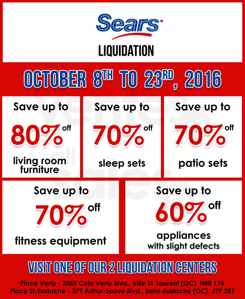 Sears Liquidation Center Mega Sale Allsales Ca