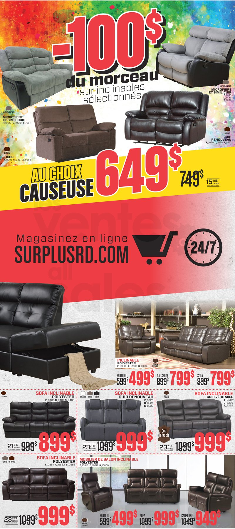surplus rd furniture liquidation ForLiquidation Meuble Chicoutimi