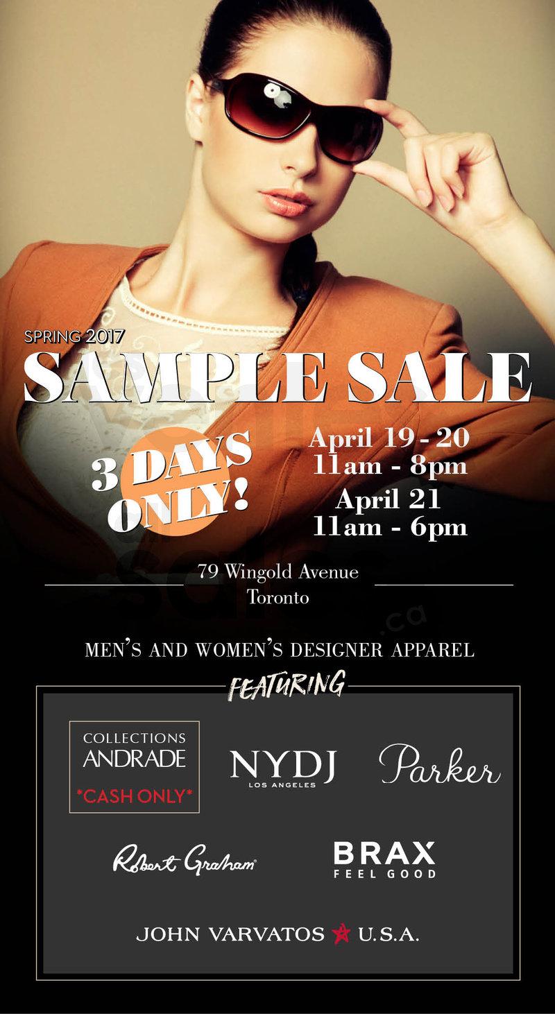 Toronto designer fashion sample sale for Lipson shirt sale 2017