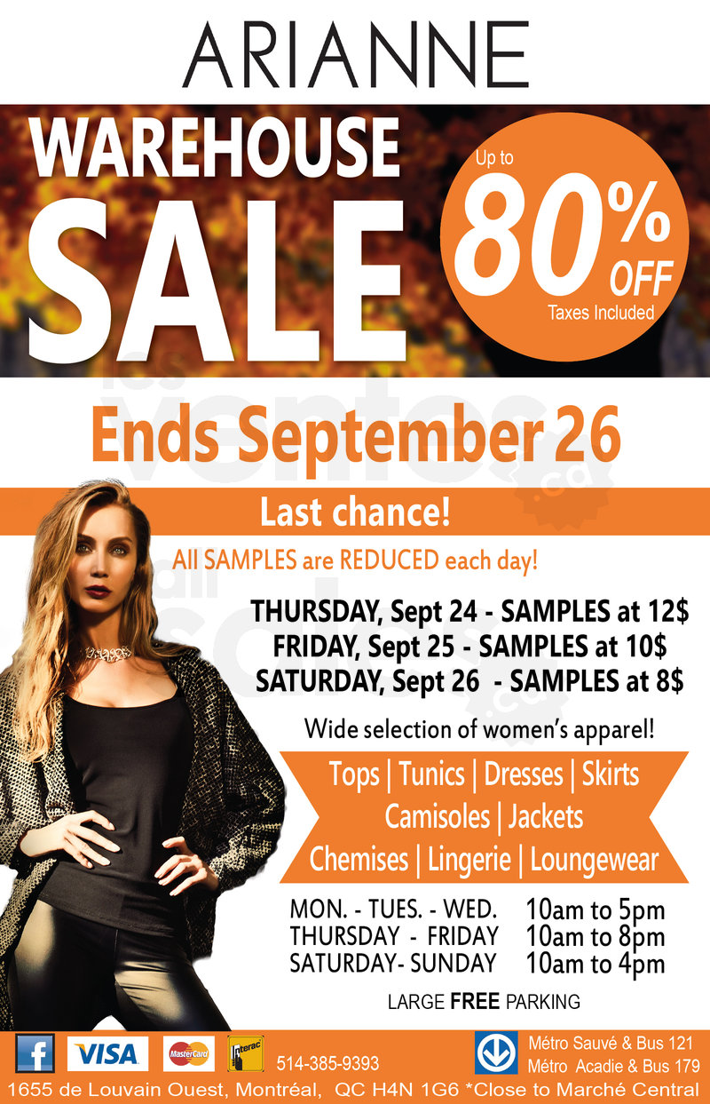 9ef79086ca ... Arianne Lingerie warehouse sale from September 18 to 26! Save up to 80%  off on a wide selection of women s apparel  tops
