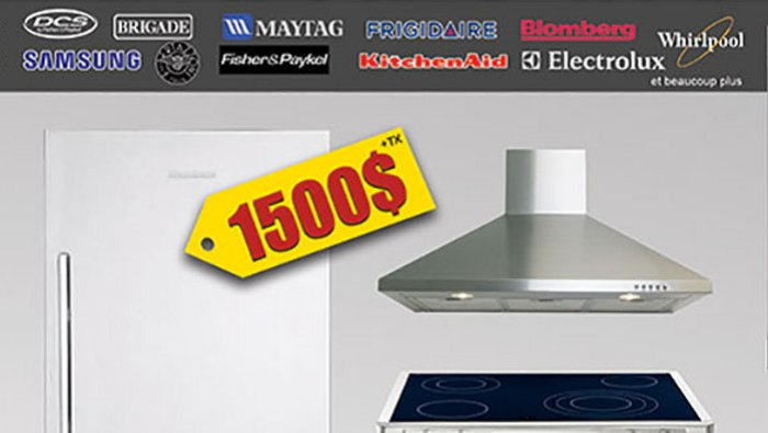 Clearance sale appliances bathroom for Liquidation electromenager lanaudiere