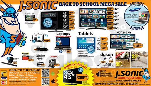 J Sonic Back To School Mega Sale Allsales Ca