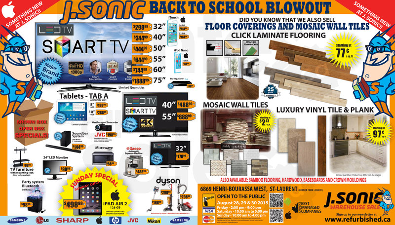 J Sonic Back To School Mega Sale Allsales Ca